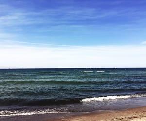 Baltic Sea, beach, and blue sky image
