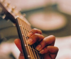 guitar, music, and hand image
