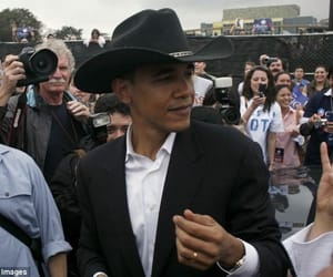 barack obama, cowboy, and yeehaw chic image