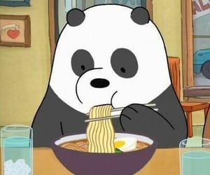 panda, we bare bears, and cartoon image