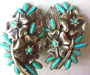 etsy, turquoise earrings, and renaissance fair image
