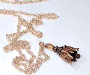 etsy, vintage inspired, and rose gold necklace image