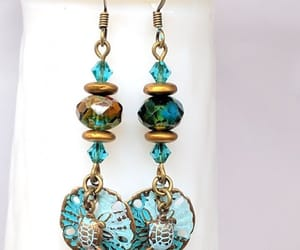 etsy, patina earrings, and beach jewelry image