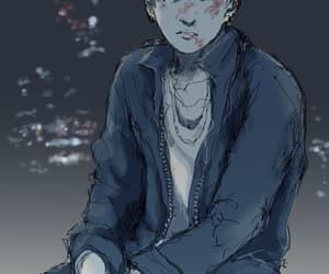 boy, bruises, and kpop image