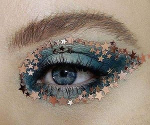 makeup, stars, and art image