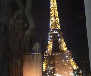 eiffel tower, france, and lights image
