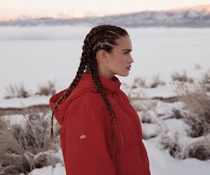 beauty, braids, and model image