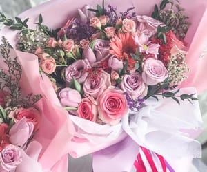 bouquet, floral arrangement, and flowers image