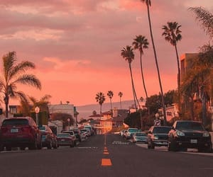 sunset, beach, and cali image