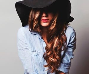 hair, hat, and style image