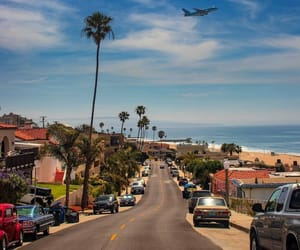 airplane, usa, and beach image
