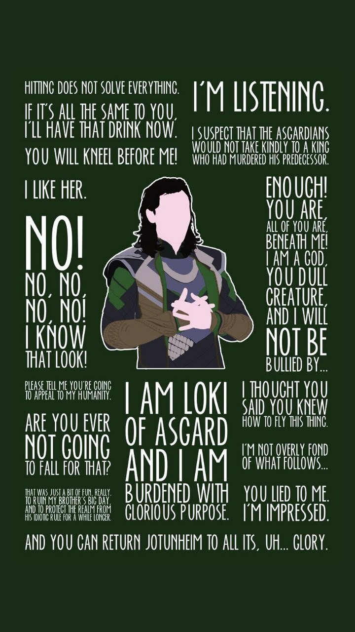 Loki wallpaper discovered by Miss