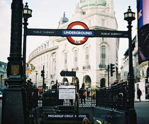 city, london, and underground image