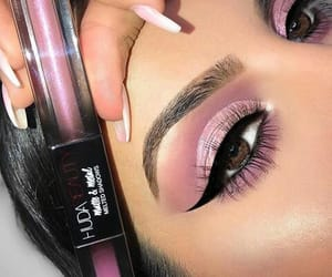 beauty, make up, and purple image