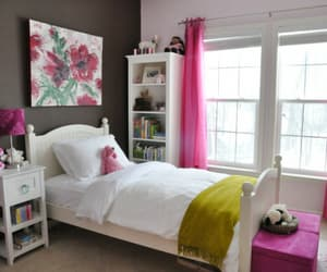 bedroom, girly, and grey image
