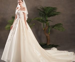 bridal, wedding dresses, and elegant wedding dress image