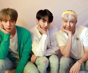 hq, namjoon, and jin image