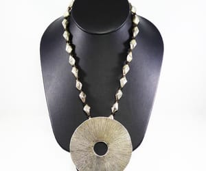 etsy, modernist necklace, and boho silver disc image