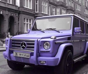 luxury, mercedes, and purple image