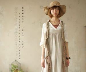 clothing, mori girl, and forest style image