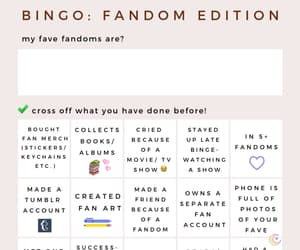 bingo, fandom, and story image