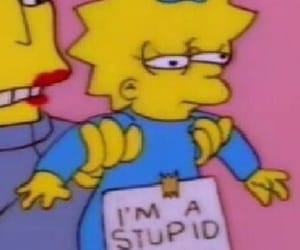 stupid, baby, and simpsons image