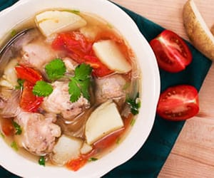 chicken soup, cooking, and soup image