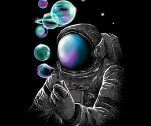 astronaut, planets, and bubbles image