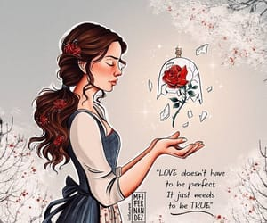 art, beauty and the beast, and disney image