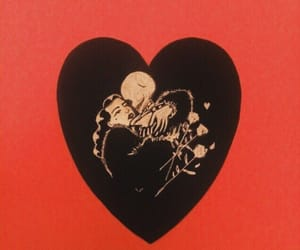 red, love, and heart image