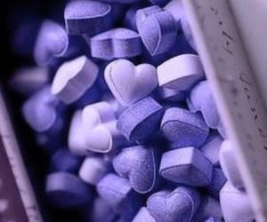 purple, candy, and hearts image