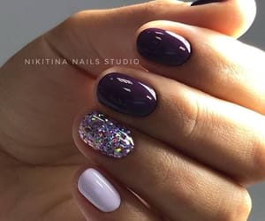 glitter, lilac, and nails image