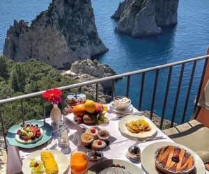 beach, breakfast, and ocean image