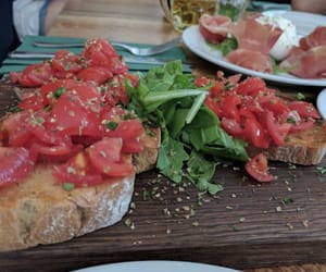 bruschetta, food, and good image