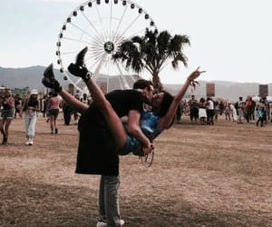 couple, coachella, and love image