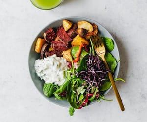 bake, potato, and salad image