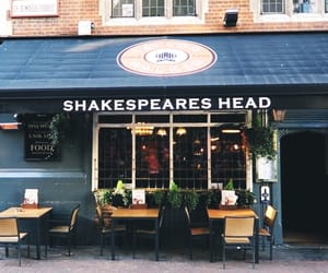 cafe, shakespeare's, and london image