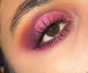 brown eyes, eyelashes, and eyeshadow image