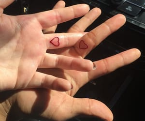 couple, tattoo, and heart image