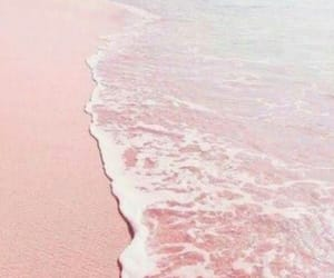 pink, beach, and aesthetic image