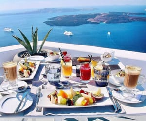 breakfast, sea, and travel image