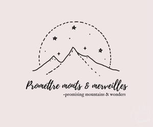 french, mountains, and phrases image