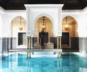 moroccan, morocco, and pool image