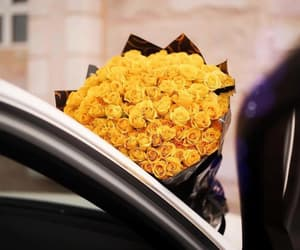 beautiful, bouquet, and car image