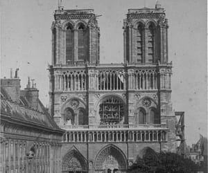 art, black and white, and notre dame image