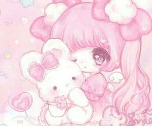 pastel, pink, and anime image