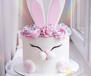 bunny, cute, and cake image