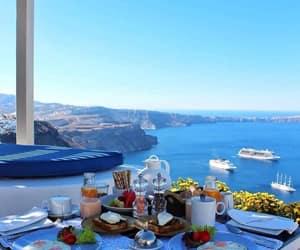 santorini, sea, and summer image