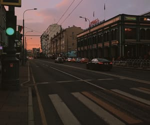 atmosphere, street, and sunset image