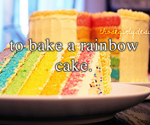 rainbow, cake, and thosegirlydesires image